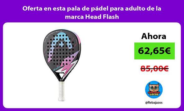 Oferta en esta pala de pádel para adulto de la marca Head Flash