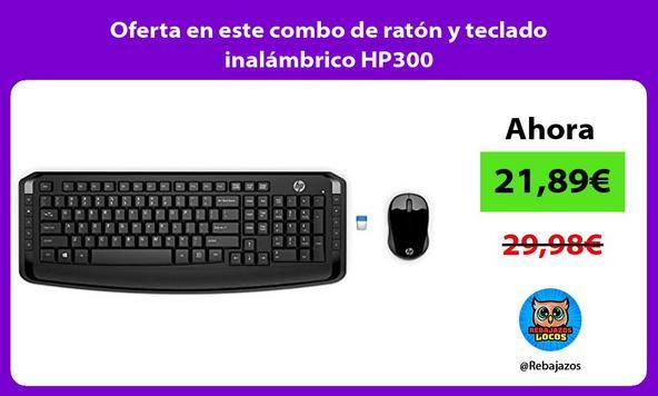 Oferta en este combo de ratón y teclado inalámbrico HP300