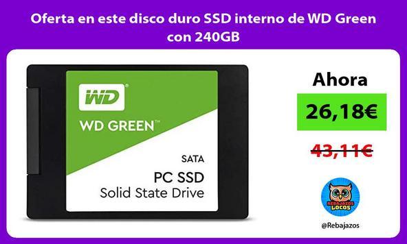 Oferta en este disco duro SSD interno de WD Green con 240GB