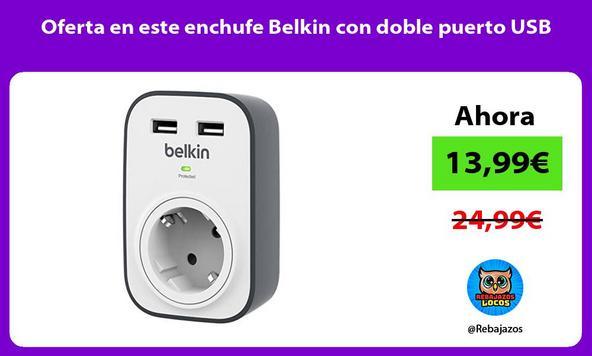 Oferta en este enchufe Belkin con doble puerto USB
