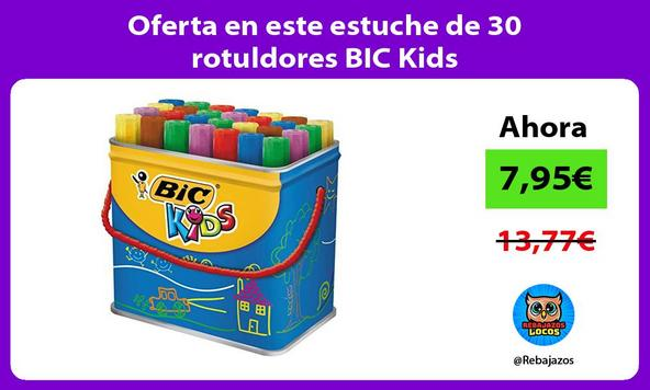 Oferta en este estuche de 30 rotuldores BIC Kids