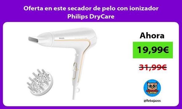 Oferta en este secador de pelo con ionizador Philips DryCare