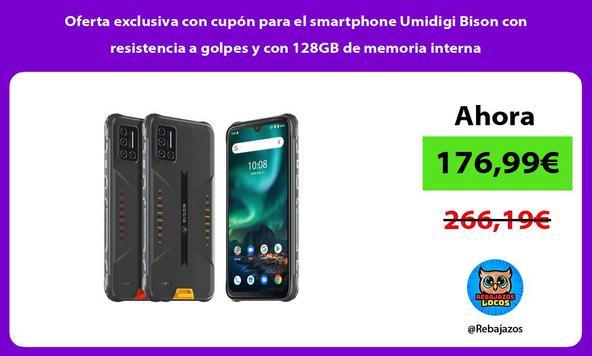 Oferta exclusiva con cupón para el smartphone Umidigi Bison con resistencia a golpes y con 128GB de memoria interna