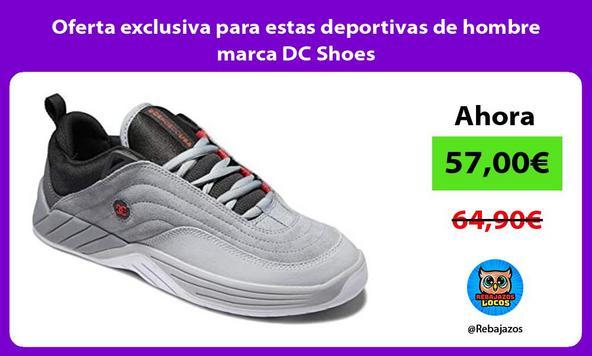 Oferta exclusiva para estas deportivas de hombre marca DC Shoes