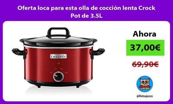 Oferta loca para esta olla de cocción lenta Crock Pot de 3.5L
