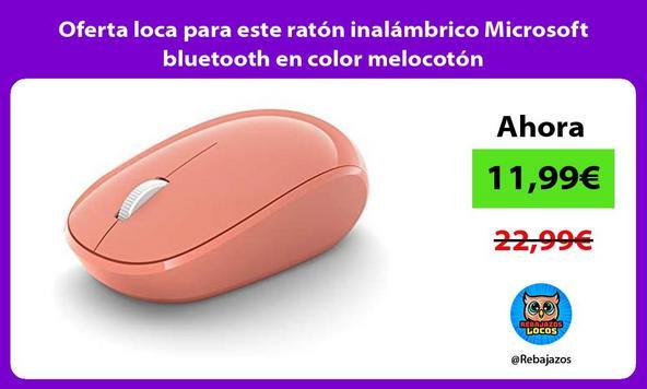 Oferta loca para este ratón inalámbrico Microsoft bluetooth en color melocotón