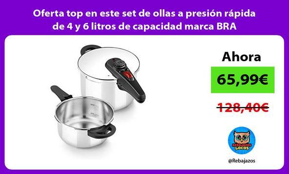 Oferta top en este set de ollas a presión rápida de 4 y 6 litros de capacidad marca BRA