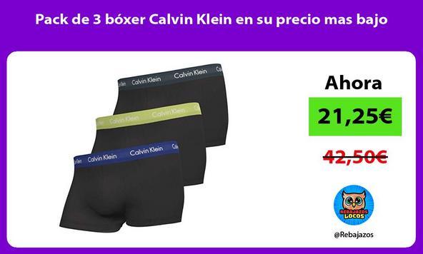 Pack de 3 bóxer Calvin Klein en su precio mas bajo