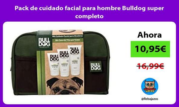 Pack de cuidado facial para hombre Bulldog super completo