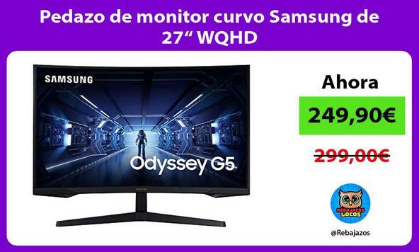 """Pedazo de monitor curvo Samsung de 27"""" WQHD"""
