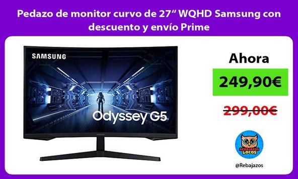 """Pedazo de monitor curvo de 27"""" WQHD Samsung con descuento y envío Prime"""