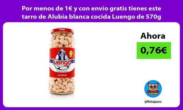 Por menos de 1€ y con envío gratis tienes este tarro de Alubia blanca cocida Luengo de 570g