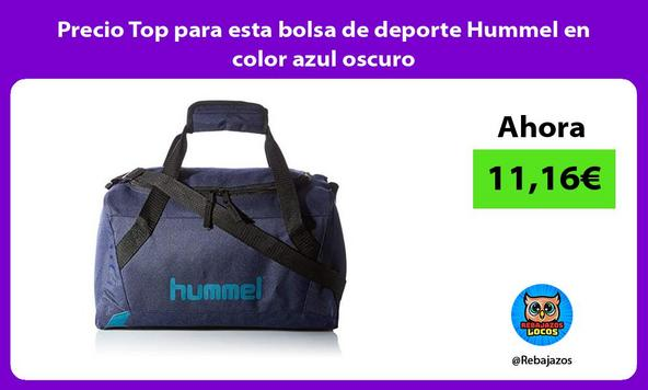 Precio Top para esta bolsa de deporte Hummel en color azul oscuro