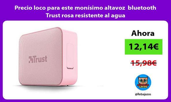 Precio loco para este monísimo altavoz bluetooth Trust rosa resistente al agua