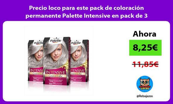 Precio loco para este pack de coloración permanente Palette Intensive en pack de 3