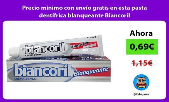Precio mínimo con envío gratis en esta pasta dentífrica blanqueante Biancoril