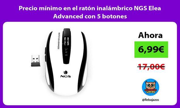 Precio mínimo en el ratón inalámbrico NGS Elea Advanced con 5 botones