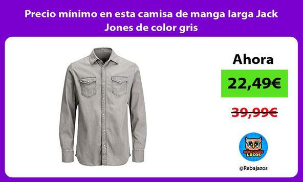 Precio mínimo en esta camisa de manga larga Jack Jones de color gris