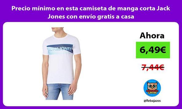 Precio mínimo en esta camiseta de manga corta Jack Jones con envío gratis a casa
