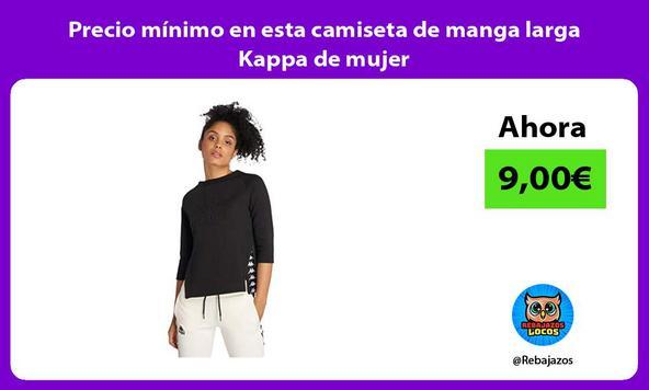Precio mínimo en esta camiseta de manga larga Kappa de mujer