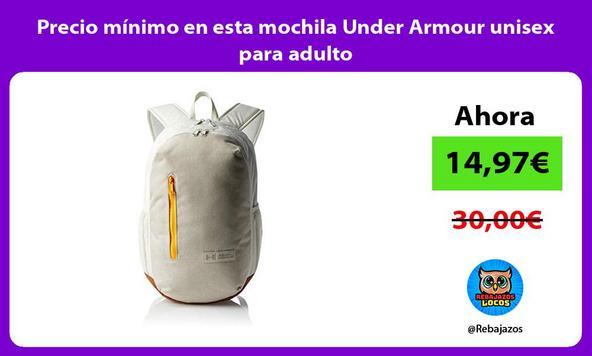 Precio mínimo en esta mochila Under Armour unisex para adulto