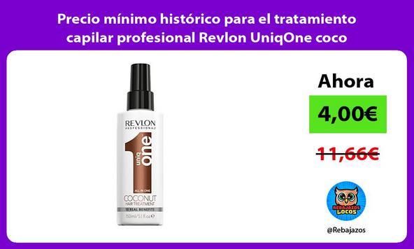 Precio mínimo histórico para el tratamiento capilar profesional Revlon UniqOne coco