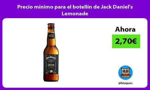 Precio mínimo para el botellín de Jack Daniel's Lemonade