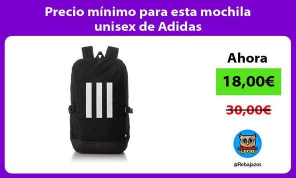 Precio mínimo para esta mochila unisex de Adidas