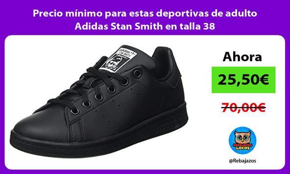 Precio mínimo para estas deportivas de adulto Adidas Stan Smith en talla 38
