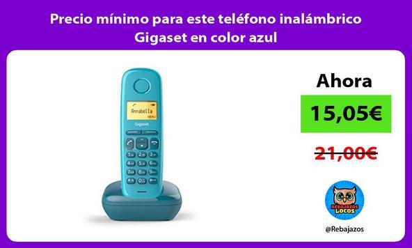 Precio mínimo para este teléfono inalámbrico Gigaset en color azul