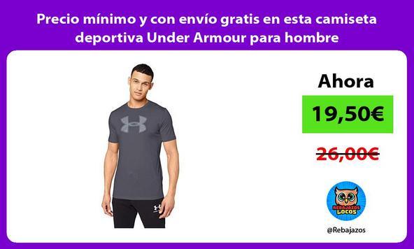 Precio mínimo y con envío gratis en esta camiseta deportiva Under Armour para hombre