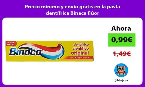 Precio mínimo y envío gratis en la pasta dentífrica Binaca flúor
