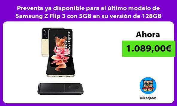 Preventa ya disponible para el último modelo de Samsung Z Flip 3 con 5GB en su versión de 128GB