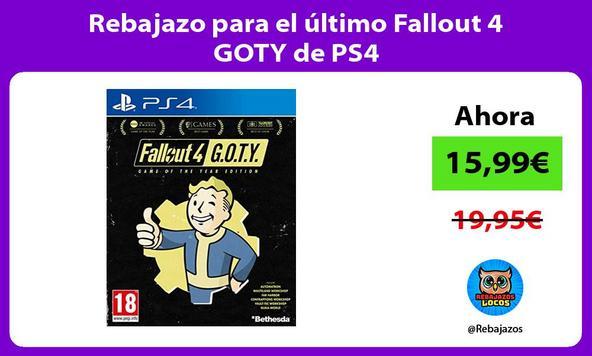 Rebajazo para el último Fallout 4 GOTY de PS4