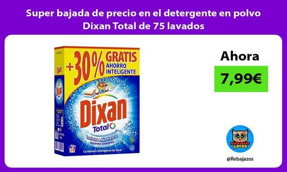 Super bajada de precio en el detergente en polvo Dixan Total de 75 lavados