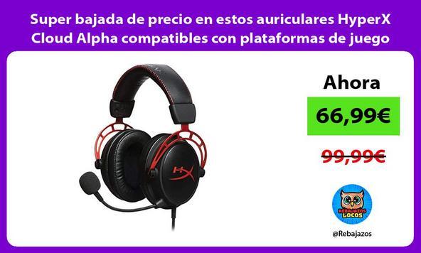 Super bajada de precio en estos auriculares HyperX Cloud Alpha compatibles con plataformas de juego