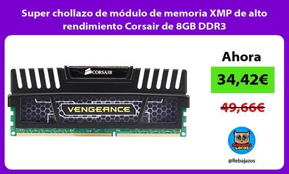 Super chollazo de módulo de memoria XMP de alto rendimiento Corsair de 8GB DDR3