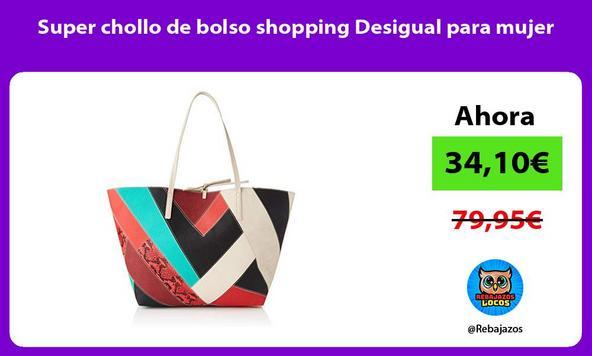 Super chollo de bolso shopping Desigual para mujer