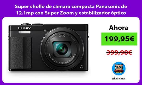 Super chollo de cámara compacta Panasonic de 12.1mp con Super Zoom y estabilizador óptico