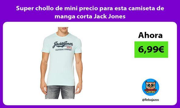 Super chollo de mini precio para esta camiseta de manga corta Jack Jones
