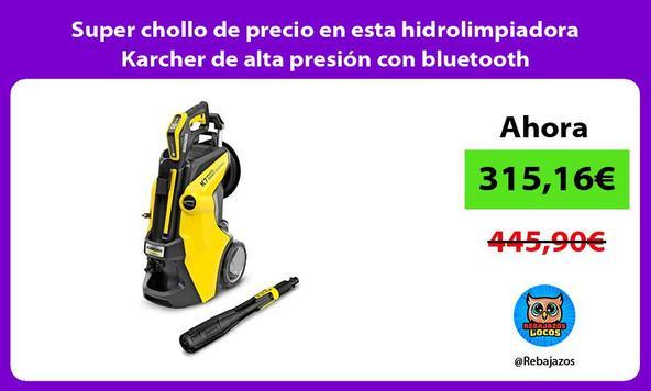 Super chollo de precio en esta hidrolimpiadora Karcher de alta presión con bluetooth