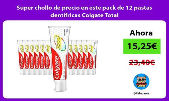 Super chollo de precio en este pack de 12 pastas dentífricas Colgate Total