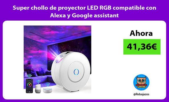 Super chollo de proyector LED RGB compatible con Alexa y Google assistant