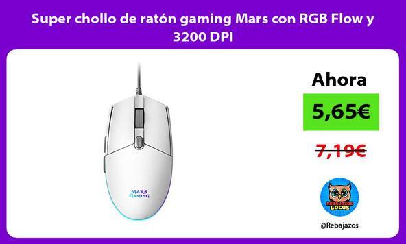 Super chollo de ratón gaming Mars con RGB Flow y 3200 DPI