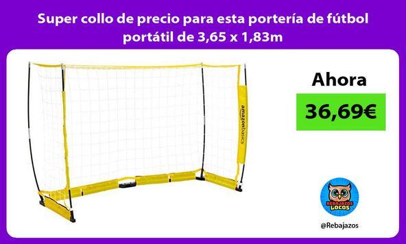 Super collo de precio para esta portería de fútbol portátil de 3,65 x 1,83m