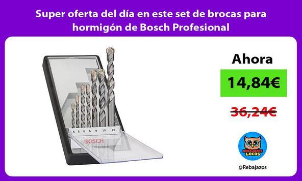 Super oferta del día en este set de brocas para hormigón de Bosch Profesional