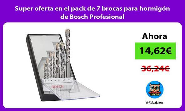 Super oferta en el pack de 7 brocas para hormigón de Bosch Profesional