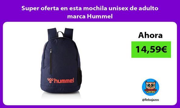 Super oferta en esta mochila unisex de adulto marca Hummel