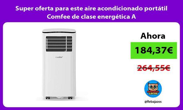 Super oferta para este aire acondicionado portátil Comfee de clase energética A