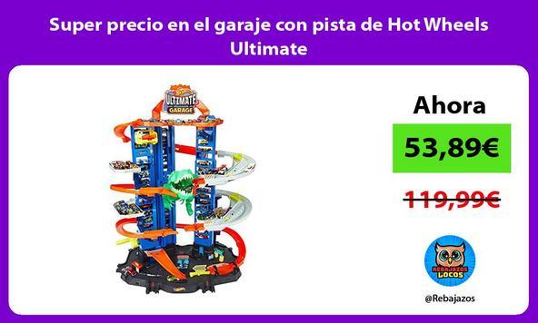 Super precio en el garaje con pista de Hot Wheels Ultimate